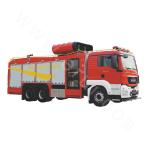 Multi-functional hazardous chemical processing fire truck