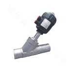 H5-Flanged Pneumatic Angle Seat Valve with Plastic Head