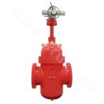 2.5Mpa single flashboard plate gate valve with diversion hole