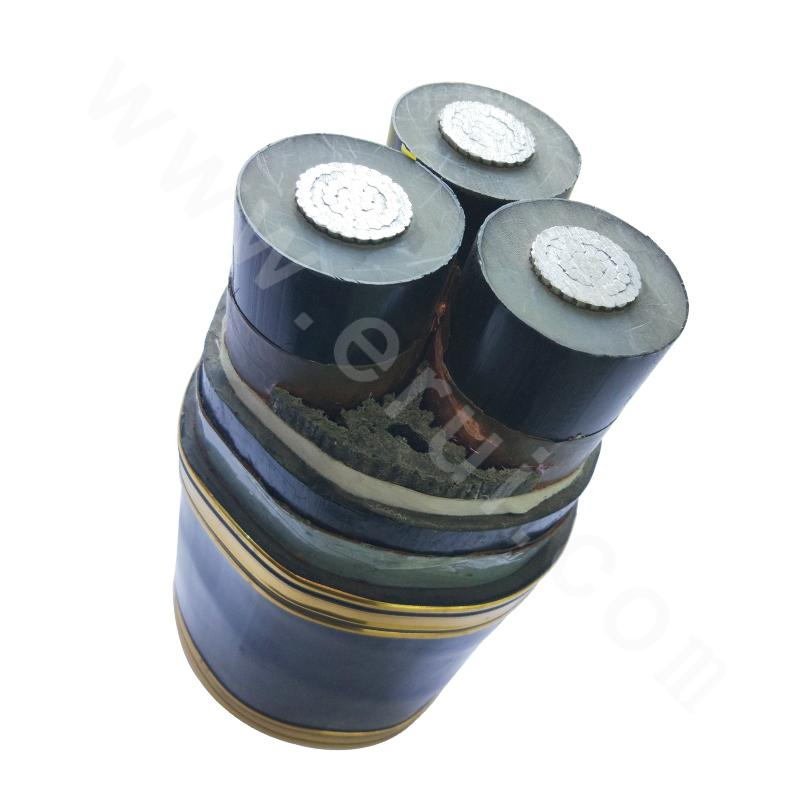 YJLLW03-Z  Longitudinally Water Blocking Power Cable with Type-B XLPE Insulation Folded Aluminum Casing and Polyethylene Jacket