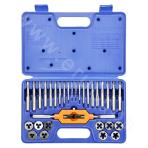 Thread tap and die set (31 pieces)