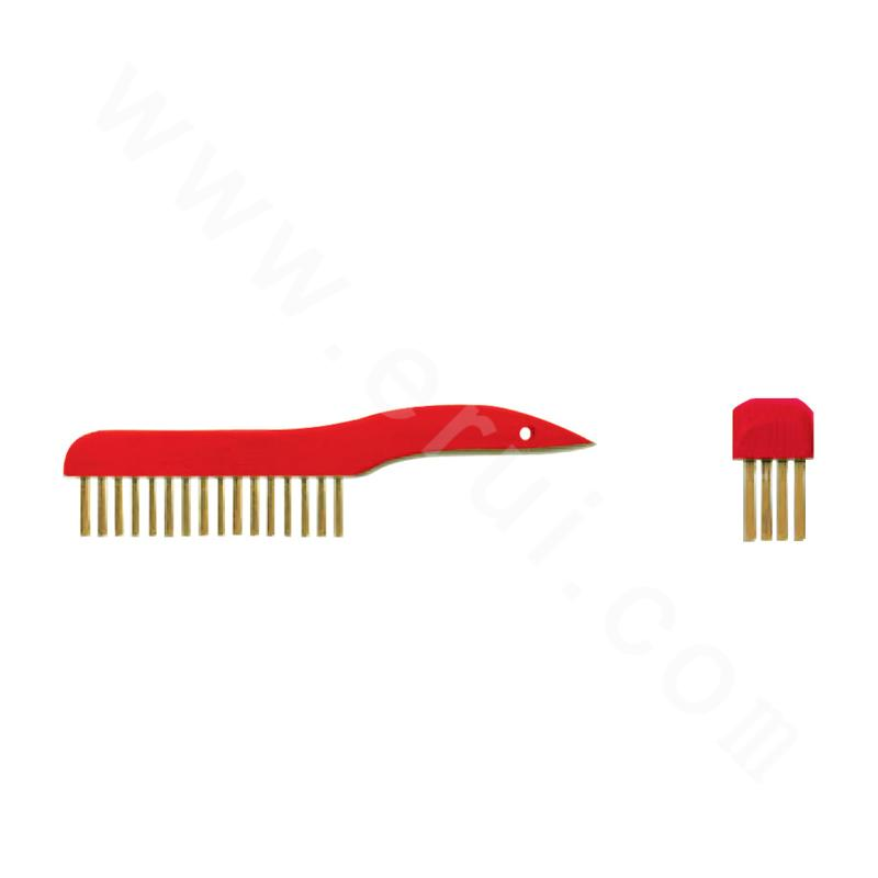 Explosion-proof curved-handle brush