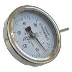Movable internal thread type bimetal thermometer