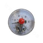 Movable external thread-type electric contact bimetal thermometer