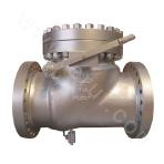 Flange connected and cast check valve with a bolted bonnet 600LB ASTM A352-LCB