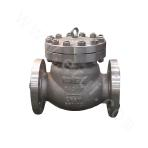 Flange connected and cast check valve with a bolted bonnet 300LB ASTM A352-LCB
