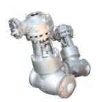 Butt welded and cast stop valve with a pressure seal bonnet 1500LB ASTM A217-WC6