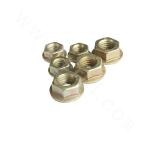 ISO10663-25Cr2MoV hex flange nut - zinc plating-yellow