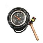 Oil cooler outlet thermometer