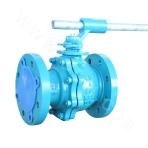 Flange connected and cast two-piece floating ball valve 150LB ASTM A351-CF8M