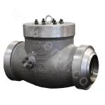 Butt welded and cast check valve with a pressure seal bonnet 900LB ASTM A216-WCB