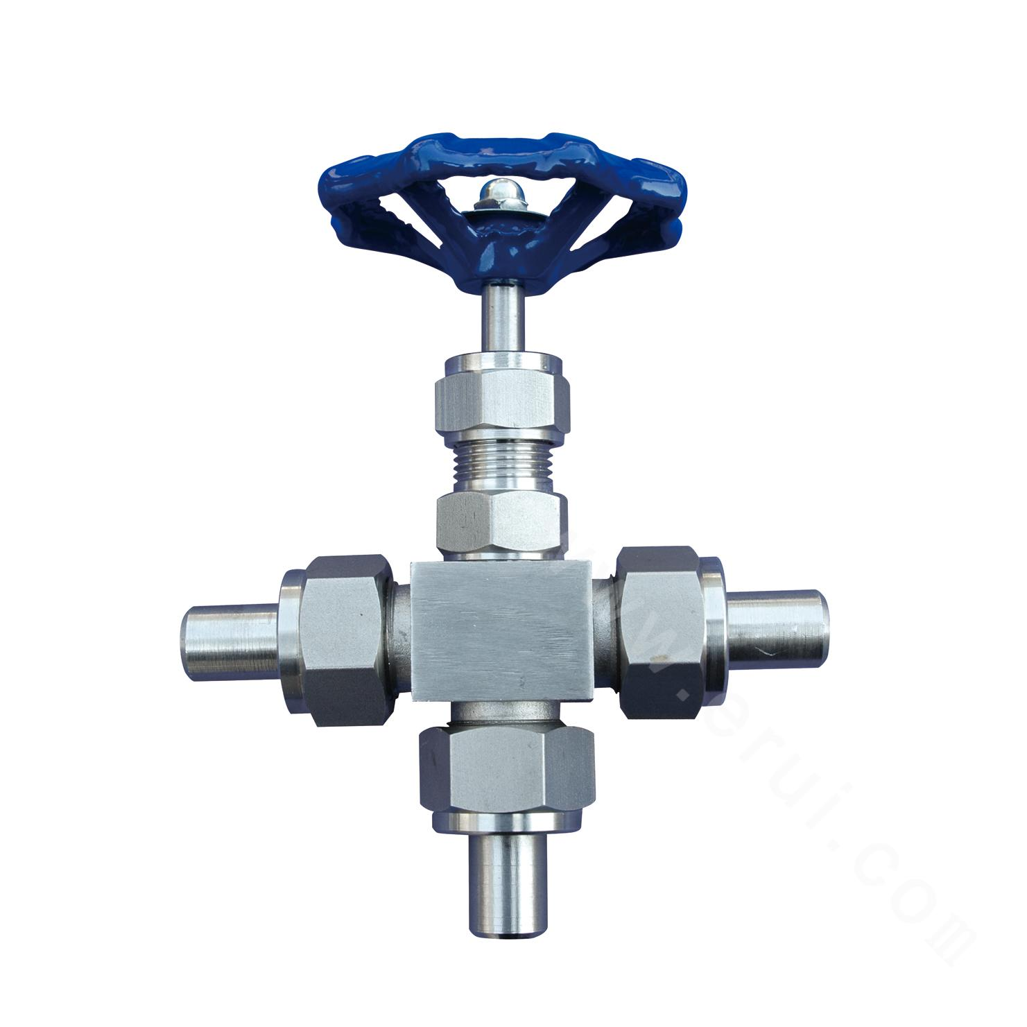 CZY12-6-J26H External thread three-way stop valve