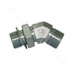 1BG4-OG 45° British Male Thread 60° Female Tapered/British Male Thread Adjustable O-ring Stud End