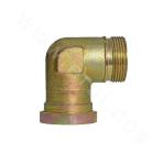 1CFL9   90° Bend Metric System Screw Clip/Light Series Flange ISO 6162-1