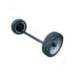2T single-tire electric brake concave axle