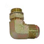 1QG9-OG  90° bend metric system external thread 74° external cone/British pipe external thread O ring adjustable column end