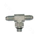 AJOJ-OG  American system JIC external thread 74° external cone/SAE external thread with O ring light series ISO 11926-3 branch tee
