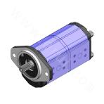 136 Series High Pressure Medium Displacement Heavy Duty Aluminum Gear Pump