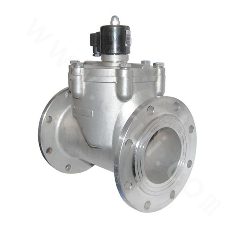 Piston-type Pilot-operated LNG Solenoid Valve (Flange Connection)