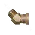 1JFS4 45° ANSI JIC external thread 74° outer cone/heavy series flange ISO 6162-2