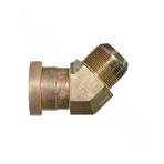 1JFL4 5° ANSI JIC external thread 74° outer cone/light series flange ISO 6162-1