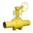 Американский стандарт цельносварного шарикового клапан с  червячным приводом