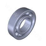 Deep groove ball bearing, with the ball mouth