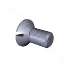 Slotted Raised Countersunk Head Screw