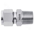 Metric-BSPT Stainless Steel Ferrule External Thread Straight-through Connector
