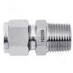 Metric-NPT Stainless Steel Ferrule External Thread Straight-through Connector