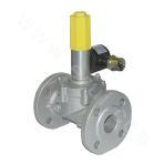 Medium pressure emergency shutoff solenoid valve - normally open (flange connection)