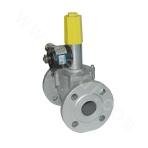 High pressure emergency shutoff solenoid valve - normally open (threaded connection)