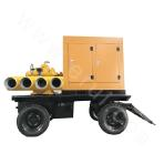 KDZY four-wheeled mobile pump truck