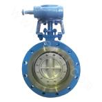 Three-eccentric flanged butterfly valve