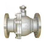 Full bore fixed ball valve