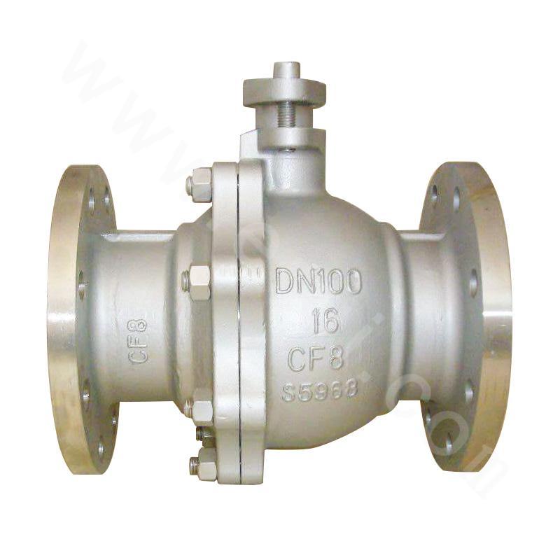Full bore fixed ball valve