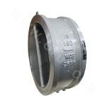 Double-clamp double-flap check valve