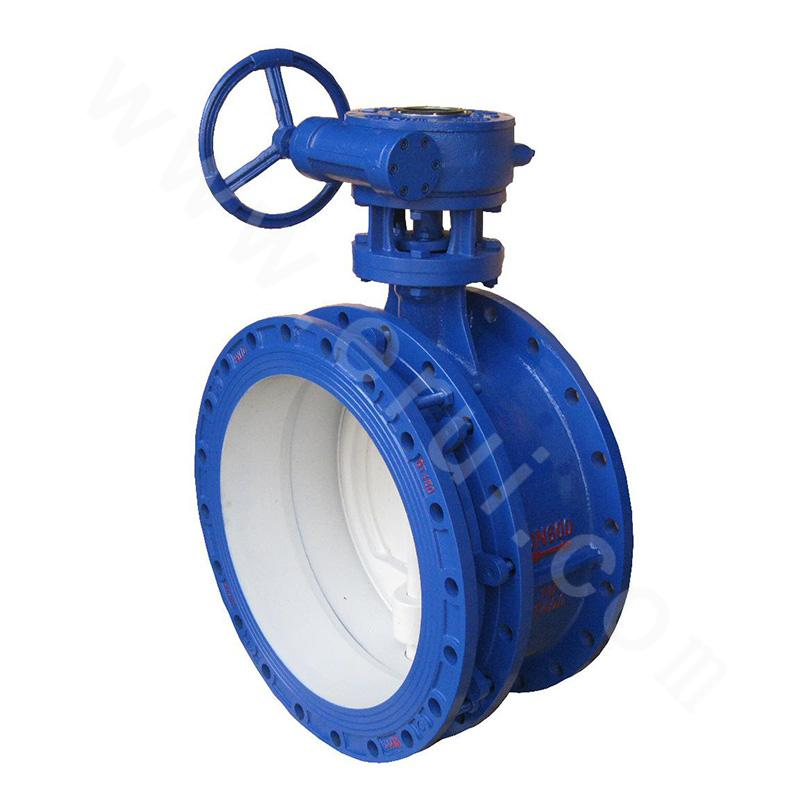Turbo flange soft seal butterfly valve