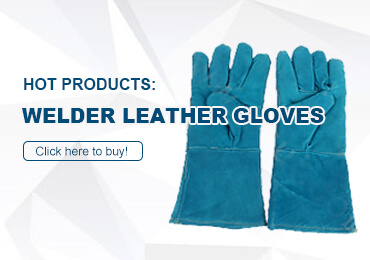 Welder leather gloves