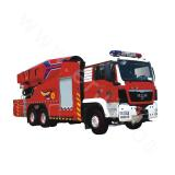 Water-tanker fire truck