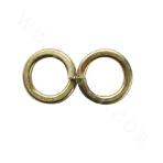 ASMEB18.2.1-65Mn Single Coil Spring Lock Washers - Zinc Plating - Yellow