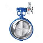 Electric driven butterfly-valve with metal forceful sealing