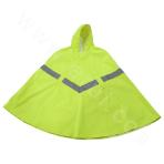 High visibility poncho