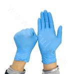 9 Inch Disposable Food Grade Blue Nitrile Gloves