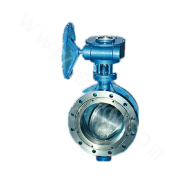 Double Eccentric Elastic Metal Sealed Butterfly Valve
