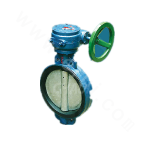 Center line wafer connection rubber lined butterfly valve