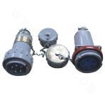 25A movable spark-free three-phase five-pole plug and socket